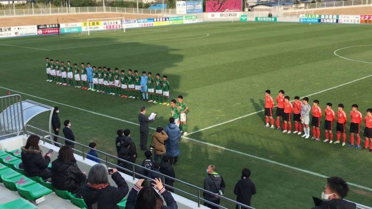 青森山田対野辺地西青森県高校サッカー新人大会決勝戦後の表彰式からの記念撮影。