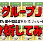 【JFA】第44回全日本U-12サッカー選手権大会 グループJ分析