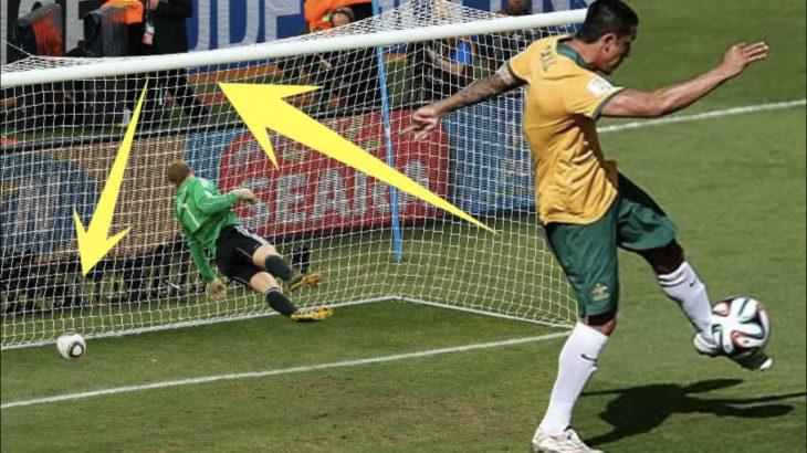 【サッカー】クロスバーに当たってゴールに突き刺さった伝説のゴールTOP7