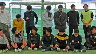 20210102 藤枝東サッカー部 2018年度卒OB 初蹴り 紅白戦