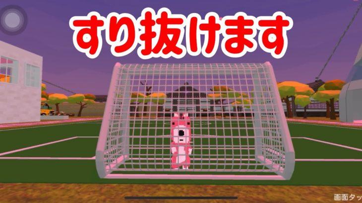 【脱獄ごっこ】★シマリスくんがサッカーゴールをすり抜けます。