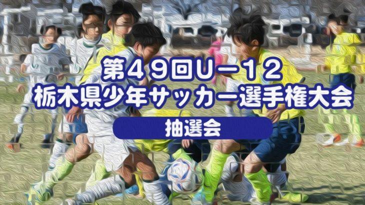 第49回U-12栃木県少年サッカー選手権大会  抽選会