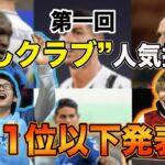 【意外な結果】欧州サッカーで人気なクラブはどこ?11位以下結果発表!!
