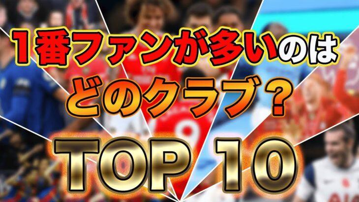 """【総投票数""""4248票""""】欧州サッカークラブで1番ファンが多いのはどこ?TOP10結果発表!!"""
