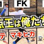【大型コラボ】大人気サッカーYouTuber達とガチシュート対決してみた!!