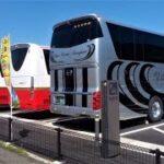 九州の観光バス 指宿サッカー場に集まるU14第34回九州中学校サッカー大会 2021 3 27~28 Kyushu sightseeing buses gathered at the Ibusuki