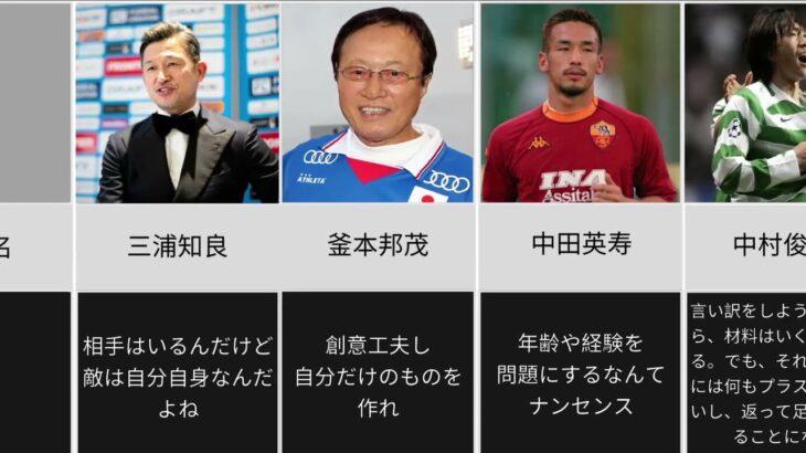 [偉大なレジェンドも!]日本人サッカー選手の名言11選!