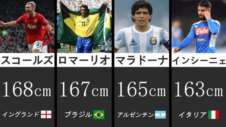 【169cm以下】身長が低いけど上手いサッカー選手たち