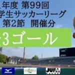 【全ゴール集】 2021年度 第99回 関西学生サッカーリーグ(前期) 第2節 開催分