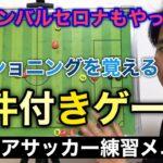 【ジュニア】ポジショニングを覚えるゲーム形式のトレーニング【少年サッカー練習メニュー】