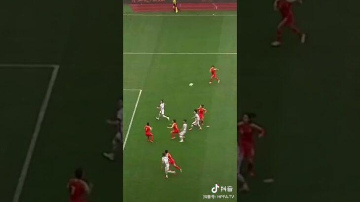 東京オリンピック予選 女子サッカー中国対韓国 中国女子選手のスーパーファインプレー