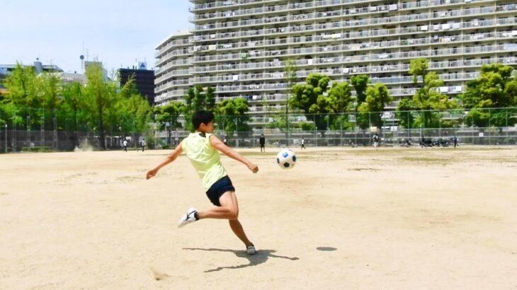 #shorts サッカースパイクモレリアでボレーシュート!