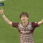 神戸FW古橋亨梧がイニエスタの絶妙なパスに反応してゴールを決める|J1第19節 神戸v横浜FC|2021