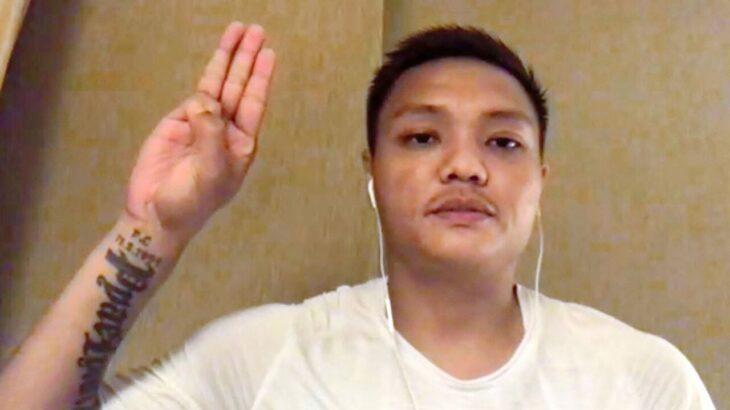 サッカー・ミャンマー代表のピエリアンアウン選手が帰国便に乗る直前、関西空港で日本政府に保護を求めた