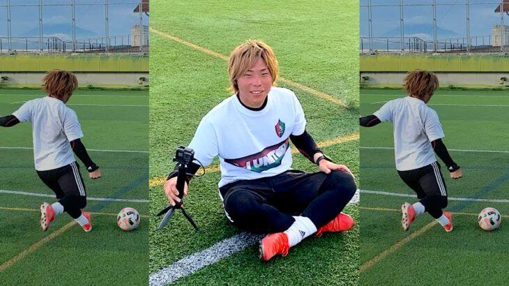【サッカー神業】カメラ設定中のAに、いきなり無回転でバー当てしてと言って「フリーキック」蹴らせた結果…#short