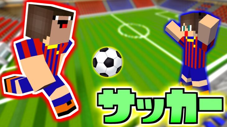 【マイクラ】コートを1から作ってサッカー遊んでみたら史上最高の試合になったww【ありかのワールド】【マインクラフト】