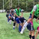 【活動風景】サッカー部員が馬飛びやってみた!