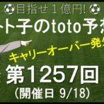 第1257回 toto 予想 Jリーグ サッカーくじ トト子のtoto予想