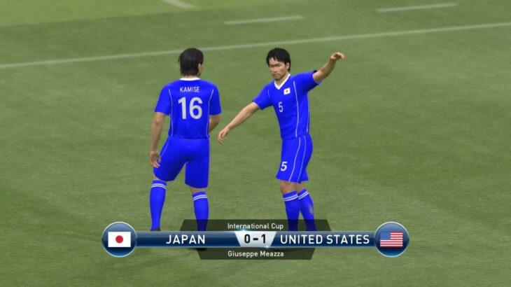 [サッカーゲーム] PES 2015 [決死抗戦!] ワールドカップ(W杯)モードグループリーグ 1   日本 0 vs 1 米国 (アメリカ)    (スーパースターレベル挑戦)